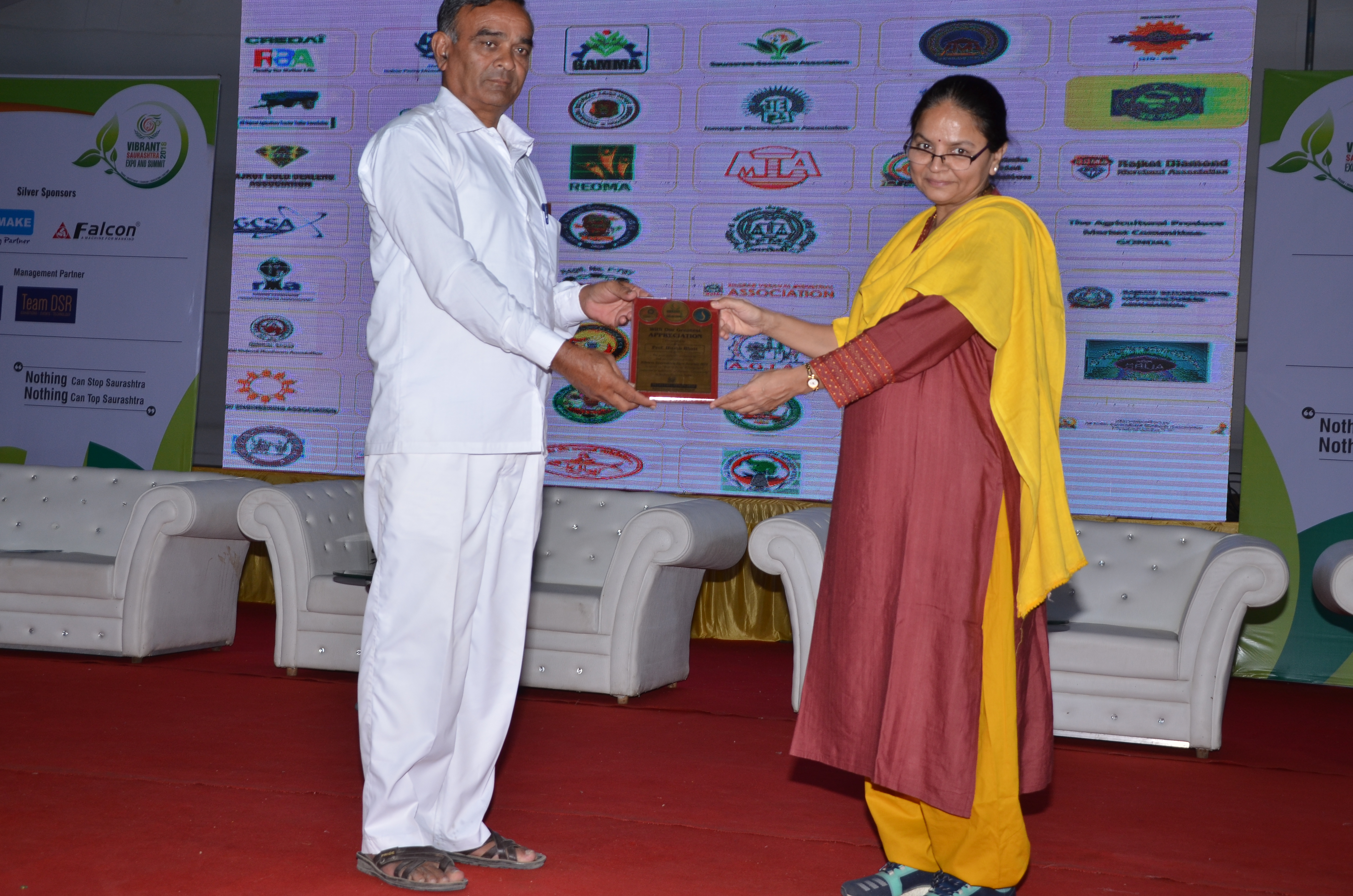 Prof. Asmita speaks at Vibrant Saurashtra Expo & Summit 2018