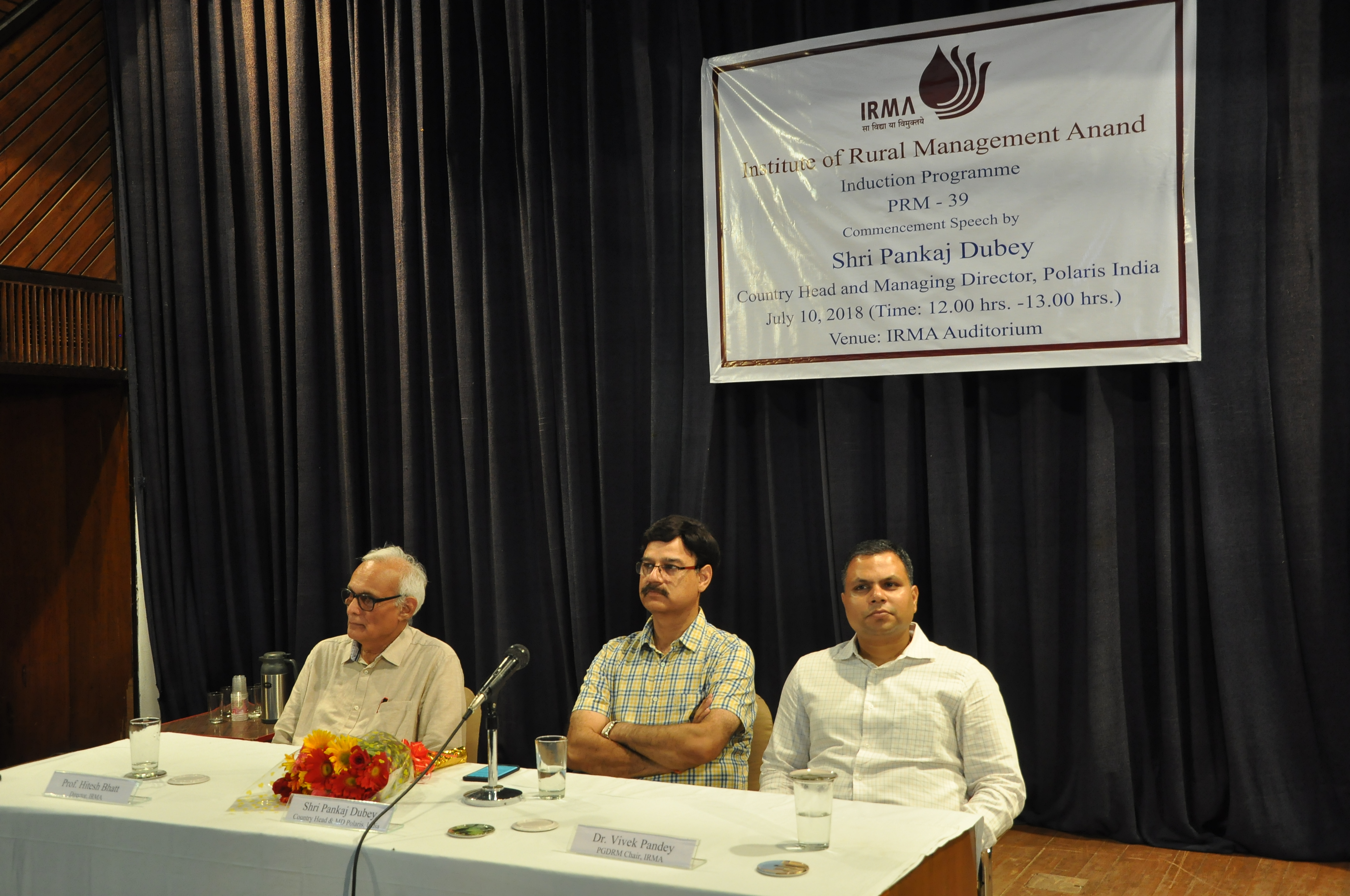 Induction Programme at IRMA