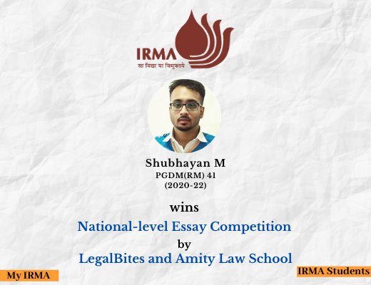 PGDM(RM) 41 participant wins National-level Essay Competition