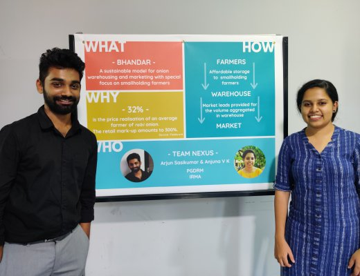 IRMA students win second prize at National Social Enterprise Idea Challenge
